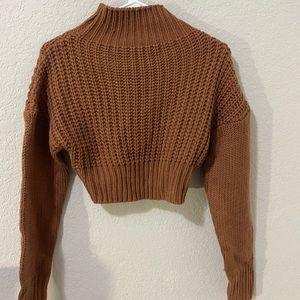 cute women's cropped sweater
